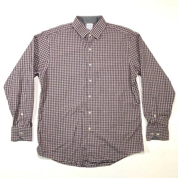 Brooks Brothers 1818 16-34  Plaid Dress Shirt